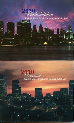 2010 United States Mint Set - U.S. Uncirculated Coins - Philadelphia & Denver