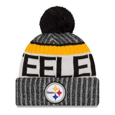 dbd9e2ff7 PITTSBURGH STEELERS NFL NEW ERA SIDELINE ON FIELD SPORT KNIT Beanie ...