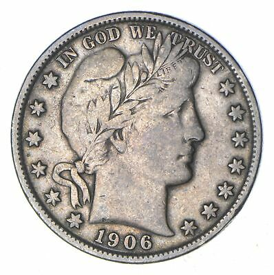 1906-S Barber Head Silver Half Dollar - Circulated *8830
