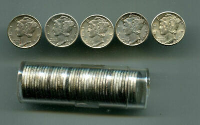 Lot Of 48 Mercury Dimes Mixed Dates Nicer Circulated Coins