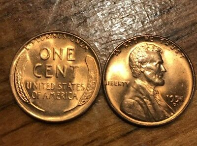 1951 D Lincoln Wheat Cent Nice MS/BU RED Lincoln Coin penny