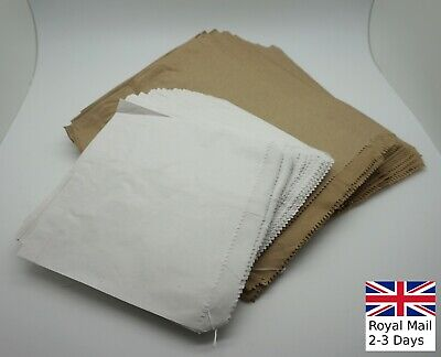 Brown/White Kraft Bags Strung Paper Food Bag Sandwiches Grocery Shop Retail