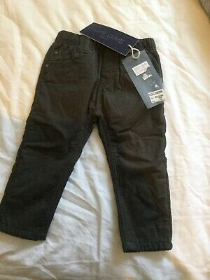 Baby boy trousers size 18 months grey warm padded new with tag funky