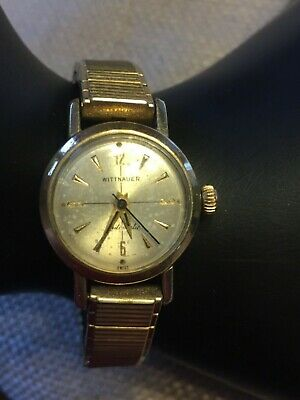 Wittnauer Watch Value >> Wittnauer Watch 10k Gold Filled Bezel 10k Speidel Band