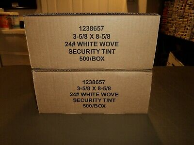 """NEW 900 Laser Check Security Double Window Privacy 3 5/8"""" X 8 5/8"""" ENVELOPES"""