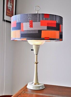 Atomic Retro Eames Metal Mid Century Danish 'KLANG' Lamp with new bespoke shade