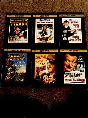 John Wayne Collection Warner Bros DVD. ( 6 Classic Titles) Very Good Condition!