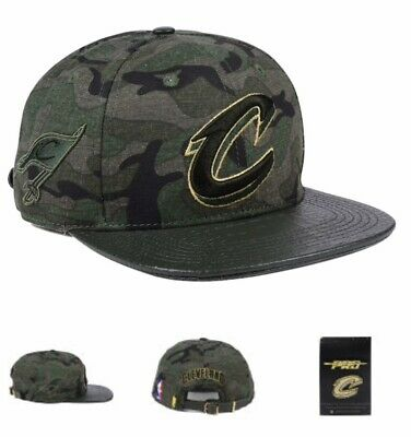 0d273921152 CLEVELAND CAVALIERS CAVS Gold Leather Basketball Strapback Hat Pro ...