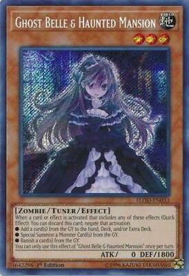 Yugioh Ghost Belle & Haunted Mansion FLOD-EN033 1st/Unl Edition NM