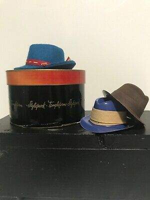 Vintage Miniature Hats ~ Salesman Sample ~ Templeform ~ Original Box ~ Lot of 3
