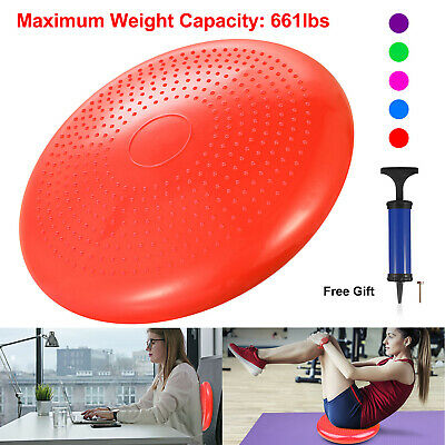 Yoga Balance Board Disc Gym Stability Cushion Exercise Fitness with Pump