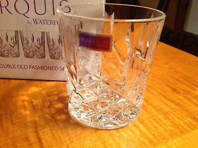 Waterford Marquis Markham Double Old Fashion Glasses Set 4 NIB Crystal