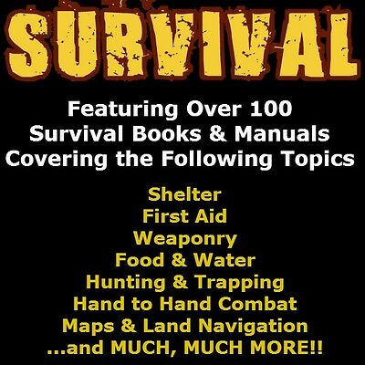 The Ultimate Survival Book & Manual Collection- Over 100 Survival Books on DVD