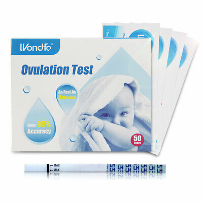 Wondfo 50Pcs Ovulation Test LH Home Urine Test Strip 50T Tests Over 99% Accuracy