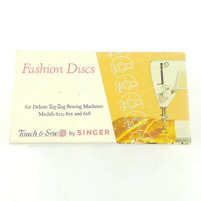 Touch & Sew By Singer Fashion Discs Models 620 625 628 Deluxe Zig Zag Sewing