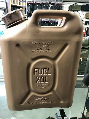 NEW Scepter FUEL CAN, MILITARY 20Liter (5.4 Gallon)