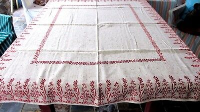 Fantastic 70s Vintage Quality Danish made Woven Table Cloth 162cms x 130cms