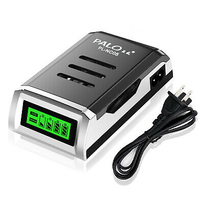 4 Bay Smart AA AAA Battery Charger for Ni-MH Ni-CD Rechargeable Batteries - CA