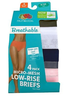 4c66a469dfb7 FRUIT OF THE Loom® Women's Breathable Micro-Mesh LOW-RISE BRIEFS 4 ...