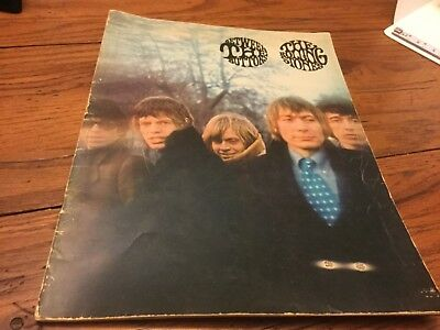 1967 ROLLING STONES Between The Buttons Rock N Roll Song Book Sheet Music