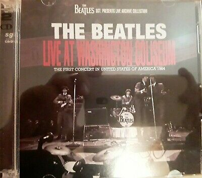 """The Beatles-""""Live at Washington Coliseum"""" 1964 CD/DVD Amazing Qlity Out Of Print"""
