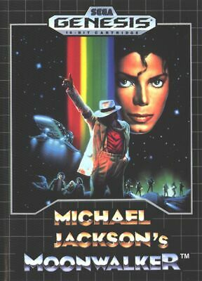 Michael Jackson's Moonwalker - Sega Genesis Game *Tested & Cleaned*