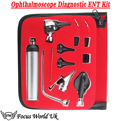 Otoscope Ophthalmoscope Opthalmoscope Nasal Larynx Diagnostic ENT Kit With Case