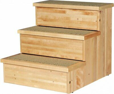 Wooden Pet Stairs, Natural