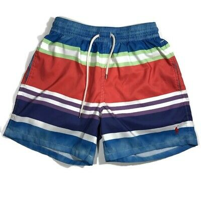07f9e69d27 Polo Ralph Lauren Mens Board Shorts Swim Trunks Size Small Blue Red  Polyester