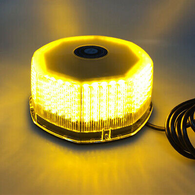 240 LED Amber Car Truck Roof Top Emergency Warning Strobe Light Yellow  New J5Y9