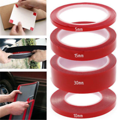1 Roll Double Sided Permanent Strong Adhesive Super Sticky Clear Tape Waterproof