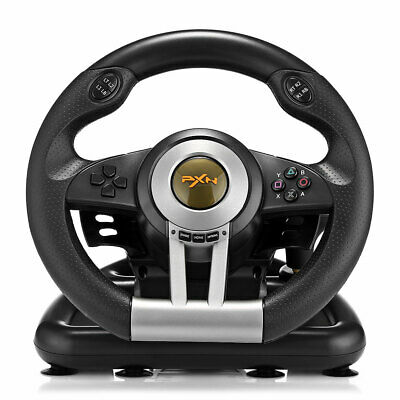 PXN V3II Racing Game Steering Wheel with Brake Pedal for PC PS3 PS4 Xbox One T4