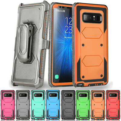 For Samsung Galaxy Note 8 9 Hybrid Belt Clip Cover Heavy Duty Hard Armor Case
