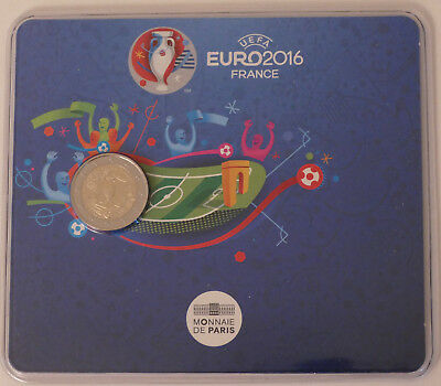 "2 euro commémorative FRANCE 2016 BU coincard ""UEFA"""