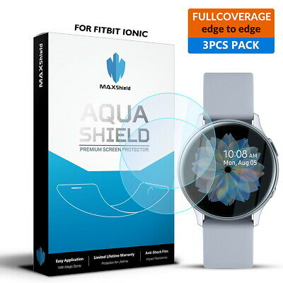 Maxsheld Samsung Galaxy Watch Active 2 Full Coverage Waterproof Screen Protector