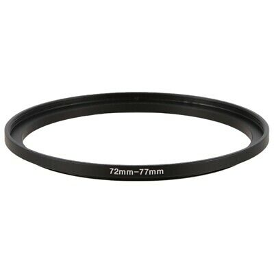 72mm-77mm Camera Lens Step Up Filter Black Metal Adapter Ring ZH