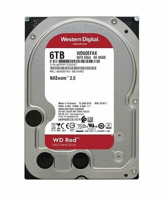"Western Digital WD Red 6TB 3.5"" SATA Internal NAS Hard Drive HDD 5400RPM 64MB"