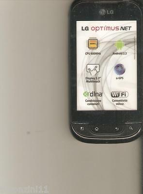Finto Telefono Da Vetrina - Dummy - Lg Optimus Net  (Is Not A Phone)