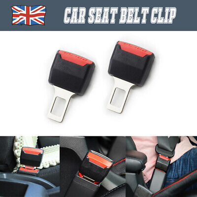 2x New Safety Alarm Stopper Canceller Car Seat Belt Clip Extender Support Buckle