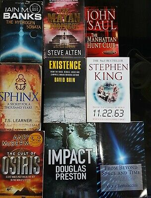 Bücherpaket 9 Bücher English Books Conspiracy Theories SciFi Future Stephen King