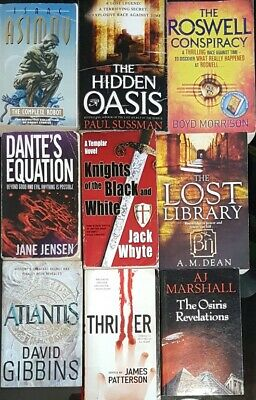 Bücherpaket 9 Bücher English Books Conspiracy Theories SciFi Future Paul Sussman