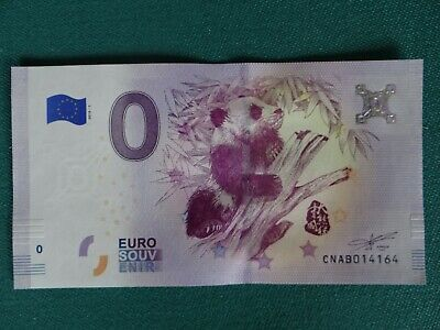 Billet souvenir Schein 0 Euro 2018-1 Chine / China Panda + Bamboo - First issued