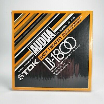 "TDK AUDUA LB-1800 7"" inch / 18cm Reel-To-Reel Master Recording Tape - New Sealed"