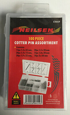 CT0459 100pc Box of Assorted Cotter Pin / Pins - Retaining Clips