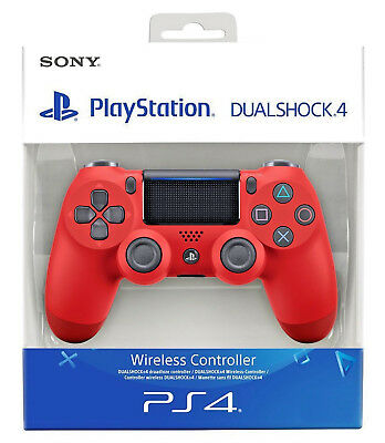 Sony Controller Ps4 Dualshock 4 V2 Rosso (Magma Red) Playstation 4 Nuovo Pad