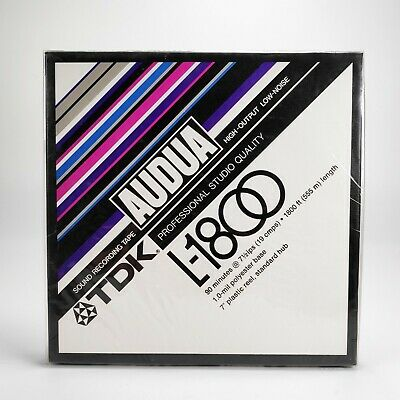 "TDK AUDUA L-1800 7"" inch / 18cm Reel-To-Reel Studio Quality Tape - New Sealed"