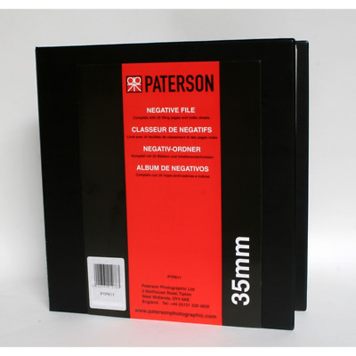 Paterson 35mm Negative File with 25 Pages And Index Sheets - PTP611