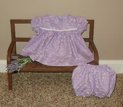 "Handmade Doll Clothes for 16"" - 18"" Cabbage Patch Dolls - ""Lavender"" Dress Set"