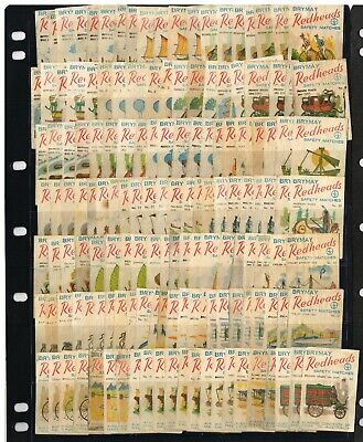 1968 Matchbox Label Redheads Mode Of Transport ' Used - Part Sets Over 200 Off