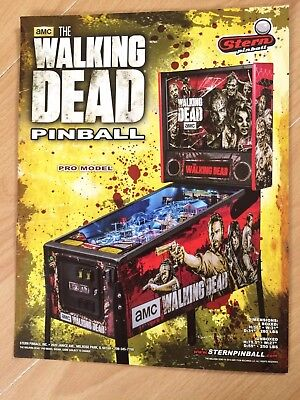 The Waking Dead Stern Pinball Flyer A4